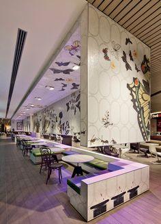 Melbourne Central Food Court | The Uncarved Block – Melbourne, Australia 2012 (retombée plafond)