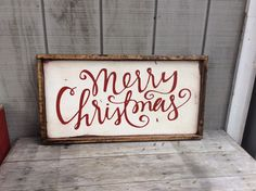 christmas sign merry christmas vinyl sign on by huckleberrylady - Merry Christmas Wooden Sign