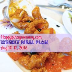 Happy Pinay Mommy Weekly Meal Plan for August 10 Here are the recipes for the week to guide you in your weekly meal preparation Weekly Menu Planning, Meal Planning, Meals For The Week, Food Preparation, Chicken Wings, August 10, How To Plan, Recipes, Happy