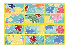 Summer Themed Border 1...Decorative Summer themed border. Simply print, cut in to strips, laminate and stick together to form a border for your Summer themed displays. #summer