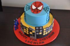 spiderman cake   Spiderman cake — Children's Birthday Cakes