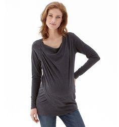 want!!!   Asymmetric Cowl Nursing Top - Grey Marl - Nursing Clothes - Mamas & Papas