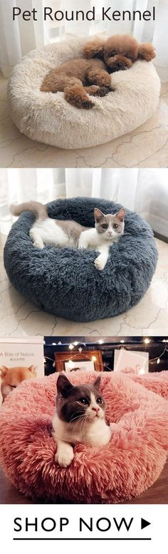 800+ sold, hot sale! Made of long plush, super soft and super warm. Comfortable touch, 3 cm long plush hair, pets love to sleep on it. Pure color with cute design, it is a nice looking bed.