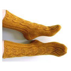 Ravelry: Alla Koivupuun pattern by Niina Laitinen Knee Socks, Ravelry, Arts And Crafts, Stockings, Cuffs, Patterns, Hats, Design, Sock Knitting