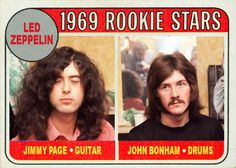 1969 Rookie Stars - Jimmy Page & John Bonham, Whoops, I guess he blinked