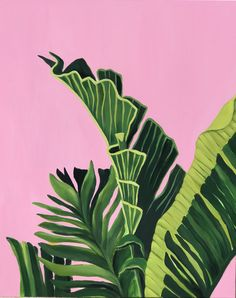 Palm Leaves #2 Pink