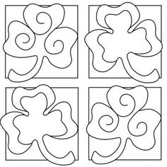st patricks day coloring/painting sheets