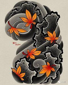 Geometric Tattoo Background, Geometric Tattoo Pattern, Japanese Cloud Tattoo, Japanese Flower Tattoos, Tribal Tattoos, Cool Tattoos, Irezumi Tattoos, Hannya Mask Tattoo, Japanese Background