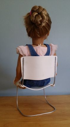 American Girl Doll Crafts and Fun!: Craft: Make a Modern/Retro Doll Kitchen or Office Chair american girl, doll craft