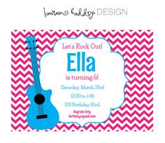 DIY Printable Rock Out Invitation by LaurenHaddoxDesign on Etsy, $12.00