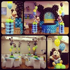 baby shower party supplies mickey mouse blue foil its a boy latex