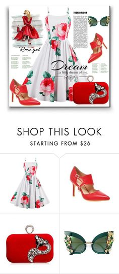 """Rosegal contest"" by pesanjsp ❤ liked on Polyvore featuring Dolce&Gabbana, Love Quotes Scarves and vintage"