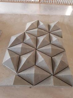 Wall Art Crafts, Diy Wall Art, Wood Wall Art, Wall Decor, Decorative Wall Panels, 3d Wall Panels, Concrete Crafts, Concrete Tiles, Planter Box Designs