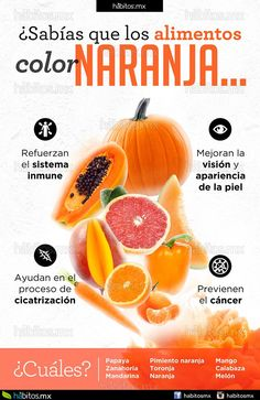 Hábitos Health Coaching | Sabías que los alimentos color naranja…
