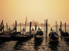 Gondolas and the Church of San Giorgio Maggiore, Venice, Veneto, Italy Photographic Print by Roy Rainford at AllPosters.com