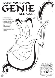 Genie Face Mask Free Printable
