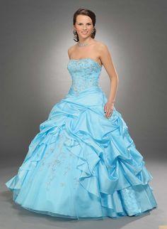 Strapless Quinceañera Dress Sweet Sixteen Dress Beaded