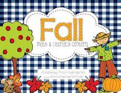 Miss Kindergarten: Fall Math and Literacy Centers