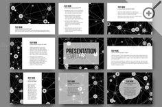 Molecular templates for presentation by VectorShop on @creativemarket