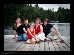 Family of five on dock_Orr_029_parry sound photographer by Bayshore Photography @bayshorephoto