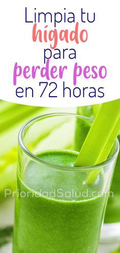 Limpia tu higado para perder peso en 72 horas #psalud p29j Nutribullet, Natural Medicine, Diabetes, Smoothies, Detox, The Cure, Food And Drink, Fruit, Drinks