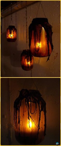 DIY Orange Glow Witch Mason Jar Tutorial- DIY Halloween Mason Jar Craft Ideas Projects