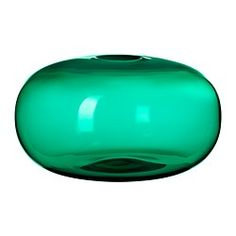 Glass vase, love the petrol colour / home / decoration / styling / interior