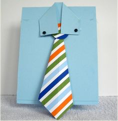 vatertag originell kreativ krawatte papier selber machen