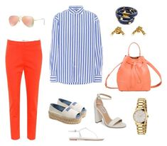 A fashion look from March 2018 featuring stripe top, ankle length jeans and open toe sandals. Browse and shop related looks. Open Toe Sandals, Furla, Ankle Length, Steve Madden, Tory Burch, Prada, Ray Bans, Polo Ralph Lauren, Fashion Looks