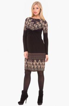 Olian Boatneck Maternity Dress