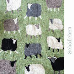 Schaf Decke häkeln - sheep blanket