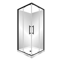 Features One piece acrylic lining. Low profile tray with 40mm upstand Tray is Centre Waste as standard but also available in Corner Waste. 1950mm high glass 6mm safety glass. Large interior Space, corner sliding doors Minimalist modern style Available in Black, Silva or White