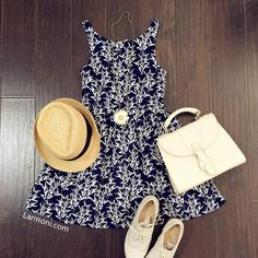 Bamboo Prints Cute Retro Sundress Teen Fashion, Korean Fashion, Fashion Outfits, Womens Fashion, Luau Outfits, Pretty Outfits, Pretty Clothes, Summertime Outfits, Expensive Clothes