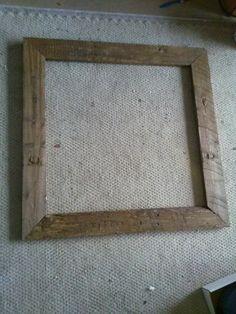 Reclaimed rustic poster frame