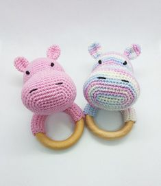 Set 2 in and multicolor hippopotamus ), toy for newborn, first toy for baby, rattle toy, ratt Organic nursery rattle Crochet teething toy First toy for newborn gift Crochet rattle hippopotamus Cute little hippo Montessori baby toys Crocheted toys rattle t Newborn Toys, Newborn Gifts, Baby Gifts, Newborn Nursery, Crochet Baby Toys, Crochet Hippo, Crochet Lovey, Blanket Crochet, Crochet Pattern