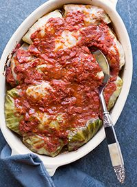 Classic Stuffed Cabbage from our newsletter -- total comfort food for Phase 1 or Phase 3.