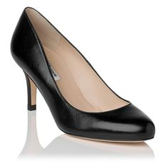£95.00 Samira Leather Round Toe Court
