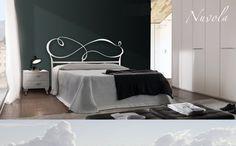 Letto Nuvola in ferro disponibile bianco e grafite -- mobilirecchia.it