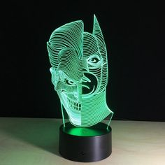 Led Night Lights Home Decoration 3d Poor Expression Shape Led Touch Night Light 7 Color Changing Desk Table Lamp New Year Gift Present Let Our Commodities Go To The World