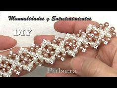 Diy Bracelets Patterns, Beaded Bracelets Tutorial, Beaded Bracelet Patterns, Woven Bracelets, Handmade Bracelets, Jewelry Knots, Seed Bead Jewelry, Bead Jewellery, Jewelry Making Beads