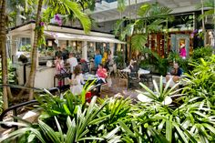 Dining in the courtyard area outside at Makoto in Bal Harbour Shops! http://balharbourshops.com/