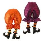 "RAZ Witch Butt with Legs - Assorted  2 Assorted styles Orange, Purple (fuchsia), Black Priced individually Made of Polyester Measures 20"" X 11""   RAZ Exclusive  Whimsical stuffed witch"