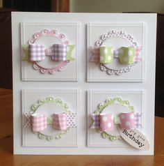 www.craftworkcards.co.uk Macaroon paper pack and Paper Bows Pad