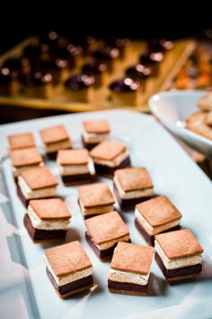 Roasted S'more Squares with House Marshmallows and Dark Ganache by Taste Catering, Photography by Cliff Brunk