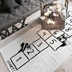 kids playroom decor YETOOME Hopscotch Game Rug, Number Play Mat Learning Rug Educational Hop and Count Floor Carpet for Baby Infant Kid Toddler Bedroom Playroom Classroom Playmats - kids room decor Kids Boy, Toddler Girl, Carpets For Kids, Car Carpet, Playroom Decor, Playroom Ideas, Nursery Ideas, Baby Playroom, Playroom Design