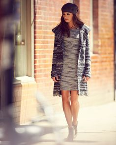 Orla Ombre Knitted Coat