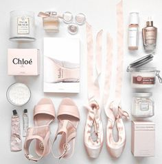 All baby pink everything.