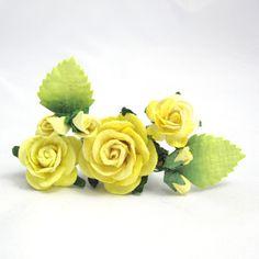 Gule blomster til håret - unika hårpynt fra Cloudcake - Cloudcake