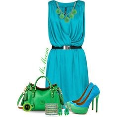 Green and Blue all over you, created by msmeena on Polyvore