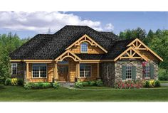 ePlans Craftsman House Plan – Craftsman Ranch With Finished Walkout Basement – 3248 Square Feet and 4 Bedrooms from ePlans – House Plan Code HWEPL76444